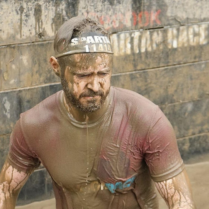 Trey Kauffman on a Spartan race