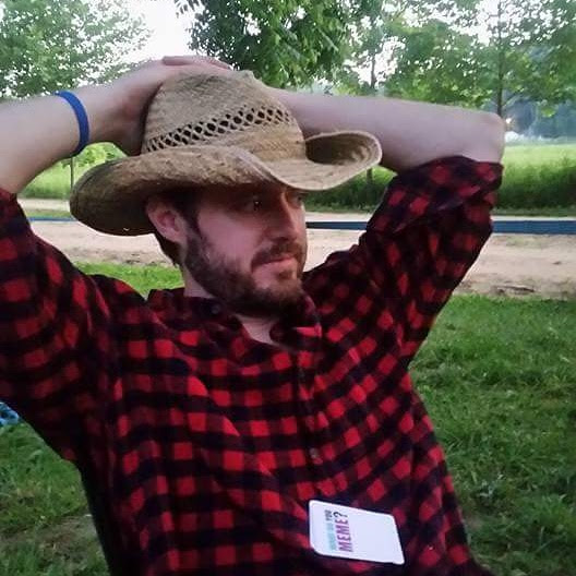 Trey Kauffman on a camping trip