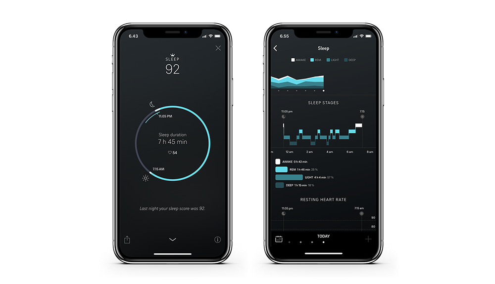 Sleep view on the Oura app