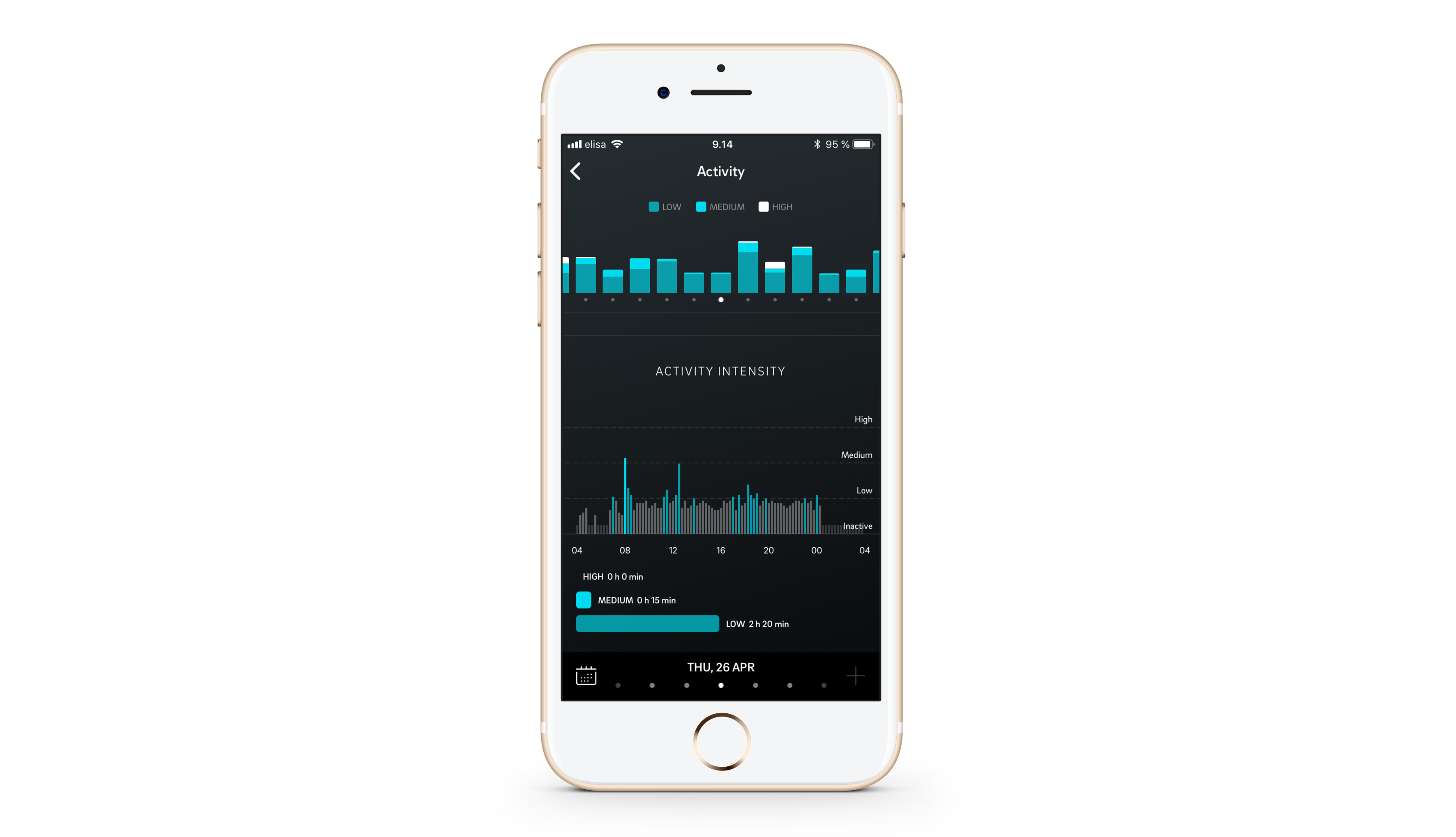 The Oura app