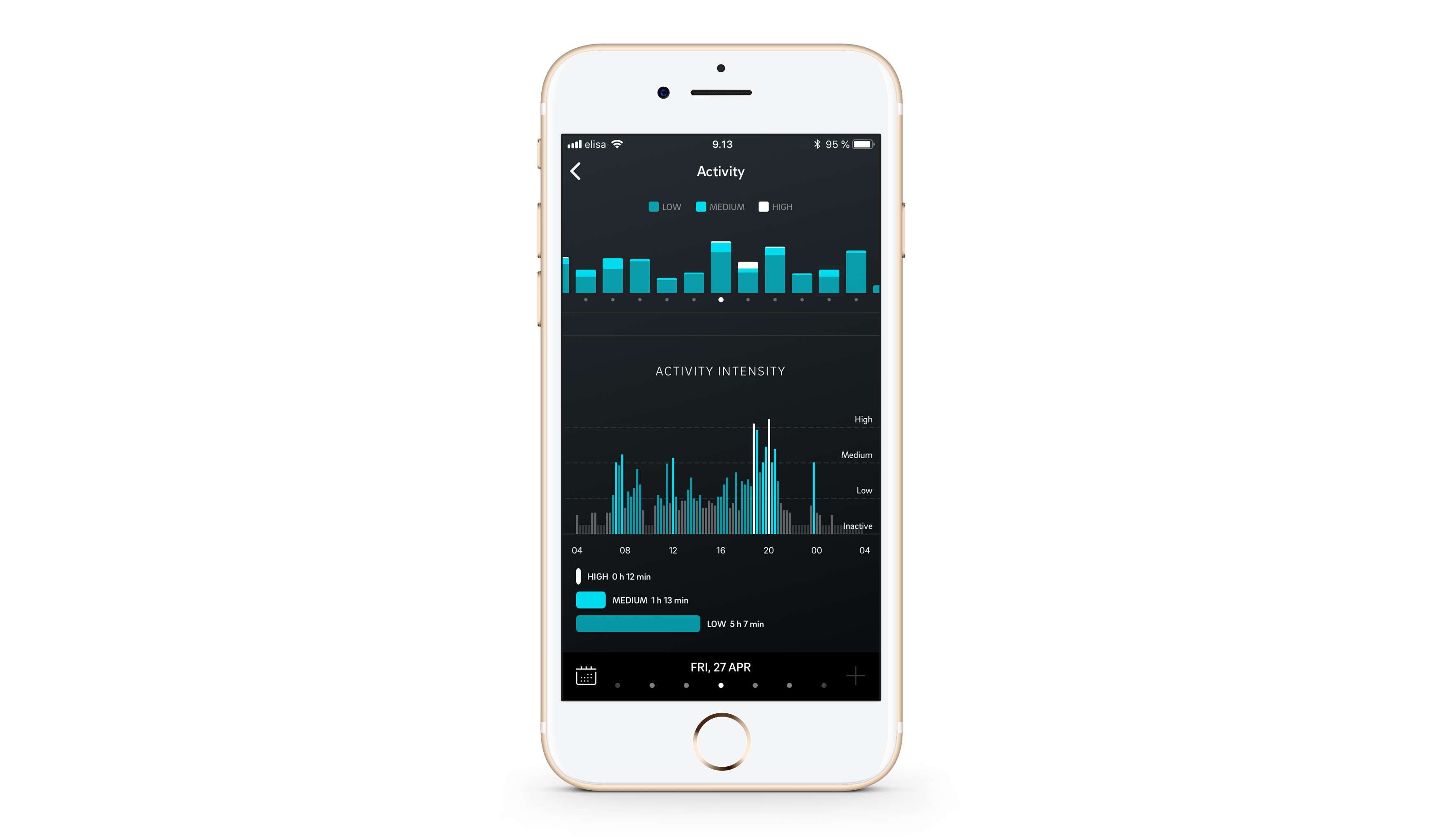 The oura app on an iPhone