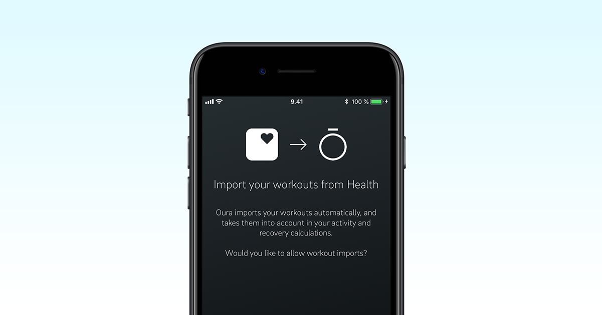 Available Now for Oura App on iOS: Import Workouts from Apple's Health App