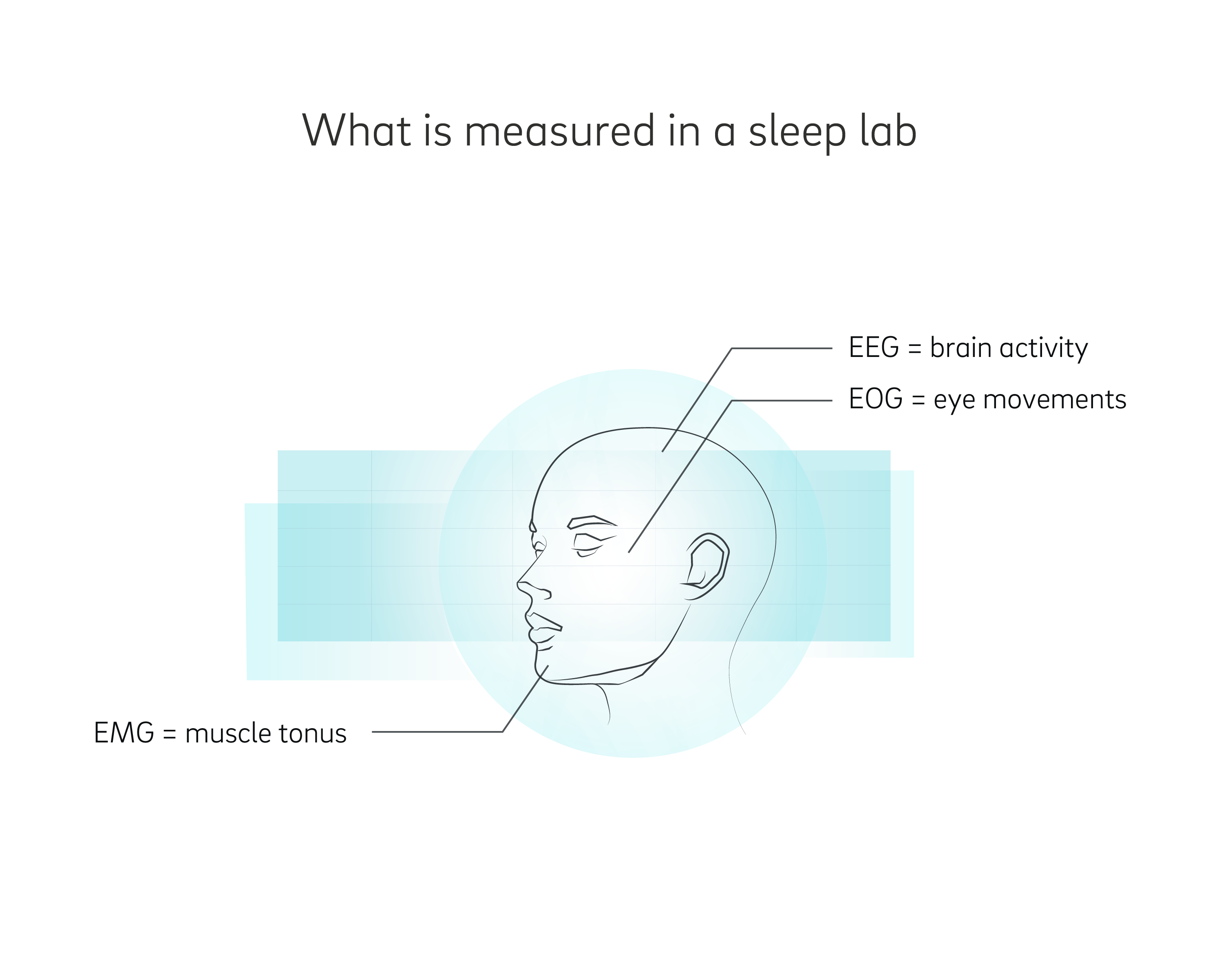 Measuring sleep stages in a sleep lab